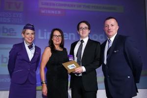 Press Eye - Belfast - Northern Ireland - 26th November 2015 -UTV Business Eye Awards  2015 Green Company of the Year Sponsored by FlyBe Picture by Kelvin Boyes / Press Eye.